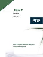 Lectura 2 - Planificación y Diseño Educativo de La Capacitación