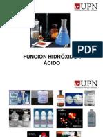 Función Hidróxido y Ácidos
