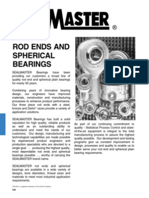 """Spherical Plain Bearing Radial  Bore 0.5/""""  O//D 1/"""" Stainless SPHERCO SBG-8SS"""