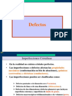 Imperfecciones o Defectos
