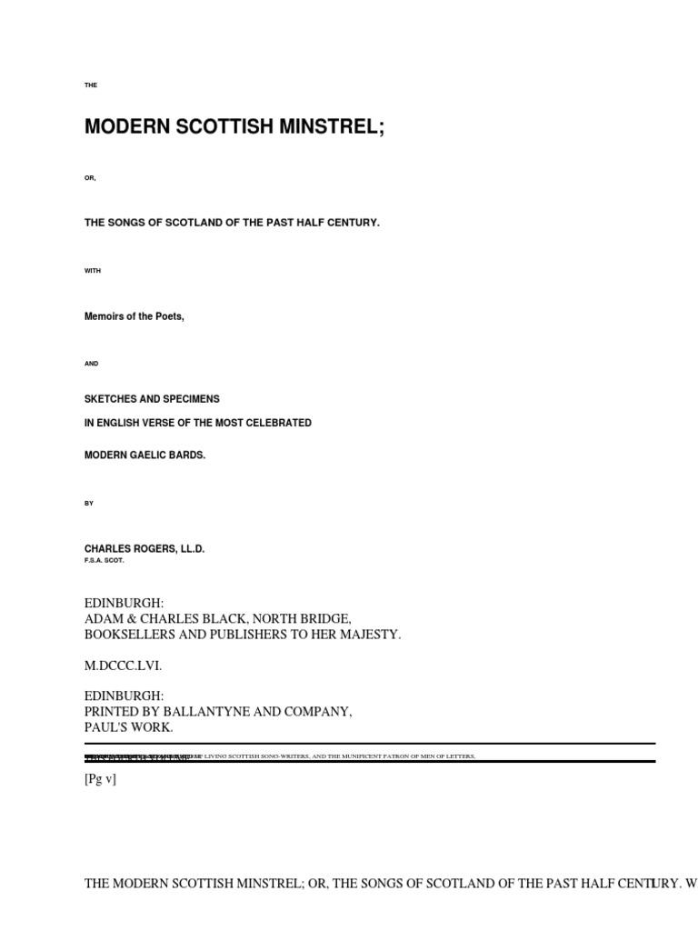 Graeme forbes modern logic scribd - The Modern Scottish Minstrel Volume Iv The Songs Of Scotland Of The Past Half Century By Various Scotland Shepherd