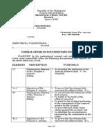 Sample Formal Offer Prosecution