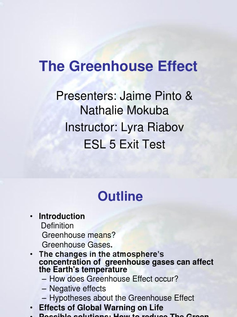 greenhouse effect jammi natali | greenhouse effect | global warming