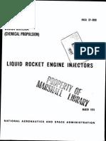 SP 8089 - Liquid Rocket Engine Injectors