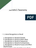 Barretts's Taxanomy