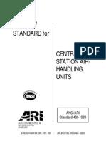 ANSI- ARI 430-99