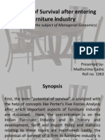 Potential of Survival After Entering Furniture Industry