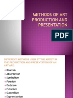 Methods of Art Production and Presentation