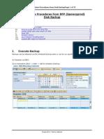Restore Procedures From Disk Backup