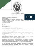 Tsj Regiones - Decisión Reparticion Admitida de Bienes Concubinarios