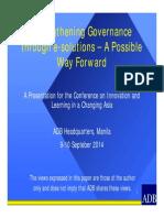 Strengthening Governance Through E-Solutions