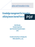 Knowledge Management for Innovation
