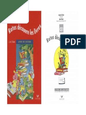 Ratus Decouvre Les Livres Livre De Lecture Ce1 Pdf