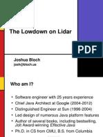 Lowdown on Lidar