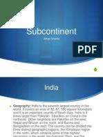 subcontinet presentation