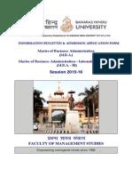 FMS BHU Admission 2015-16