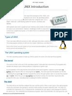UNIX Tutorial - Introduction