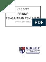 KRB3023 Prinsip Pengajaran Penulisan