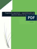 Programa de Capacitación - EAA-Horno de grafito I