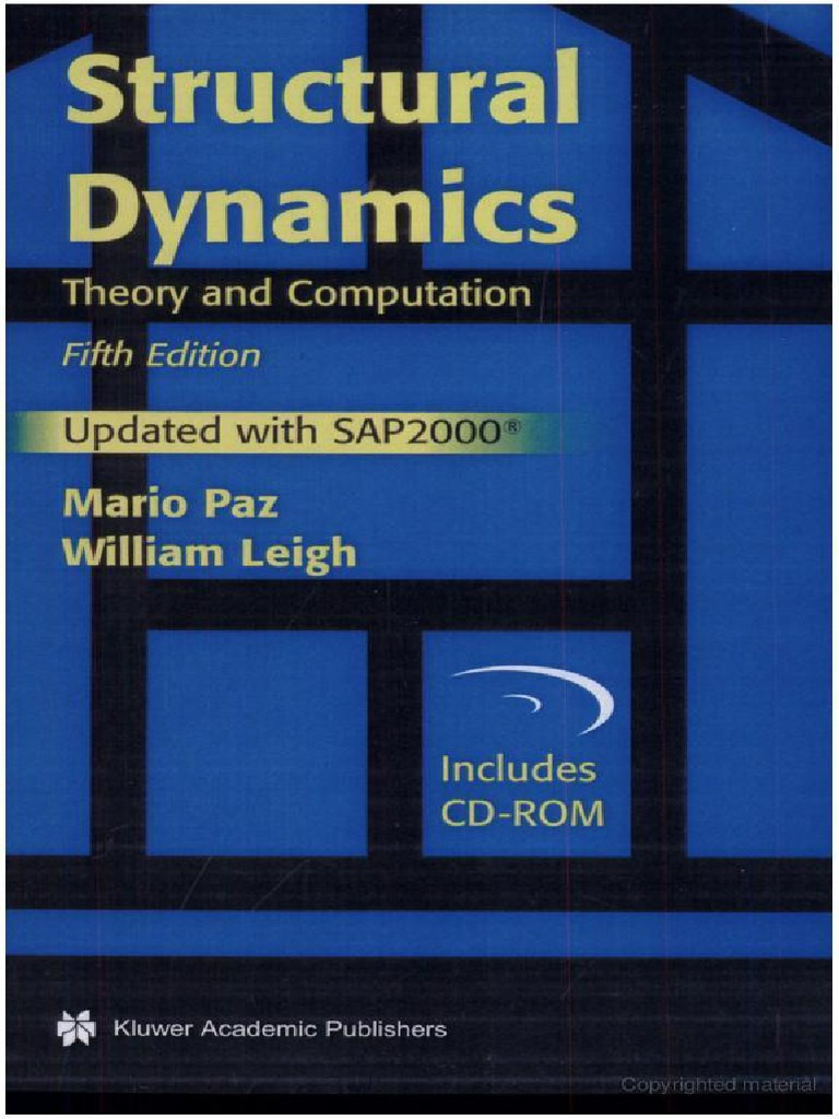 structural dynamics 5th ed mario paz william leigh rh scribd com Dr. Mario Paz Orthodontist Structural Calculations Example