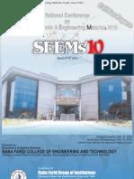 SEEMs10 (Abstract Deadline Jan. 30, 2010)