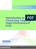 Introduction to Clustering Large and High-Dimensional Data (2006)