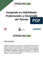 Postgrado en Habilidades Profesionales y Desarrollo Del Talento