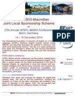 BESIG-Macmillan Joint Local Sponsorship Scheme, Bonn 2014
