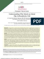 Understanding Why Metal on Metal Hip Arthroplasties Fail [JAAOS, 2012]