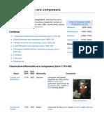 List of Romanticera Composers