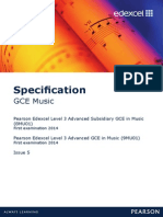 Music GCE Specification