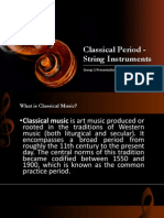 Classical Period - String Instruments