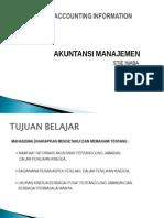 akmen- RESPONSIBILITY ACCOUNTING INFORMATION