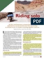 Riding Solo Hero Honda