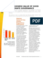 Business Article - The Business Value of Good Corporate Governance