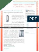 Choisissez Les Grands Cabinets de Montréal, Non Seulement Pour Acheter Votre Chauffe-Eau, Mais Aussi Obtenir L'Ai Installé