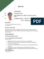 Nguyễn Nhất Việt's resume + Bachelor Degree