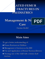 Femur Fractures in Children - Case Presentation