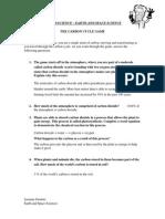 carbon cycle game worksheet - eportfolio
