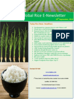 16th September,2014 Daily Global Rice E-Newsletter by Riceplus Magazine