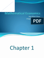 Fundementals to Mathematics of Econometrics