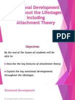 emotional development through the lifestages and attachment theor