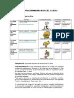 Actividades Programadas Para El Curso 2014