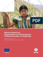 Market Analysis for Preparedness and Development