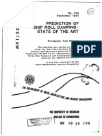 Prediction of Ship Roll Damping - State of the Art
