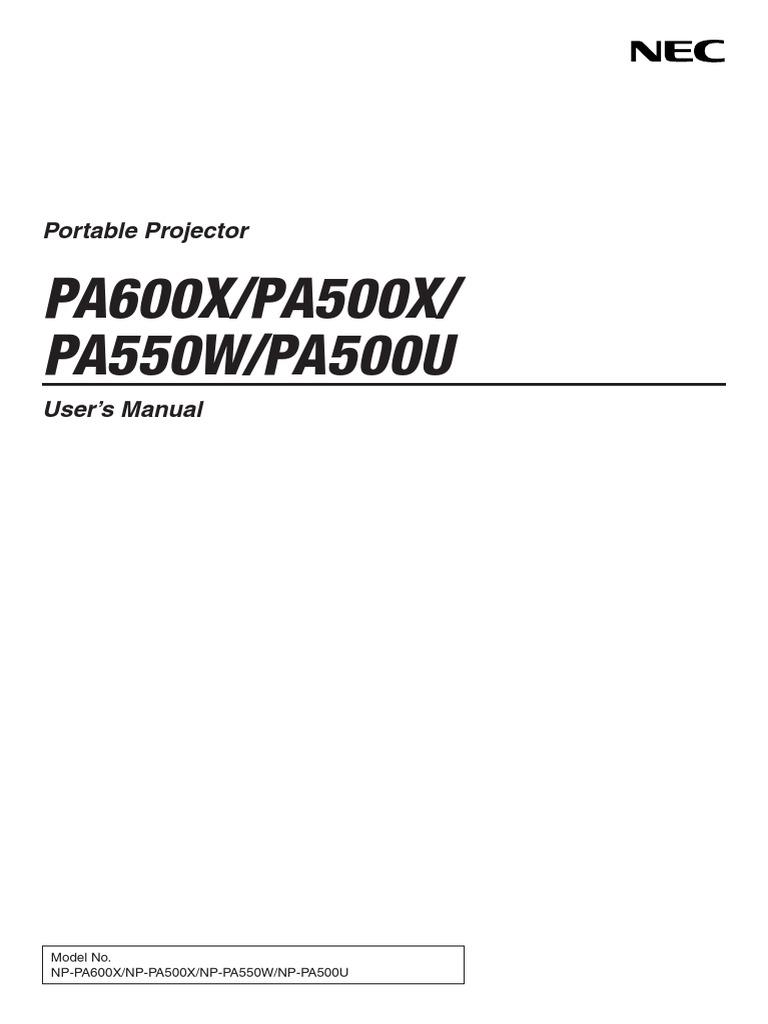 PA600X/PA500X/ PA550W/PA500U: Portable Projector