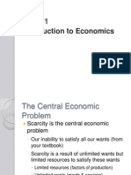 Economics Basic Notes - Topic One