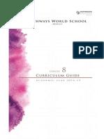 grade 8 curriculum guide 2014-2015