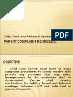 Parent Complaint Redressal Procedure
