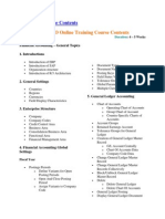 SAP FICO Course Contents